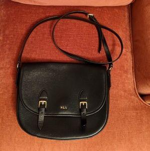 Ralph Lauren Tate Textured Saffiano Saddle Bag